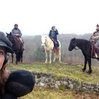 Tournage de l'émission 1000 km à cheval sur Equidia