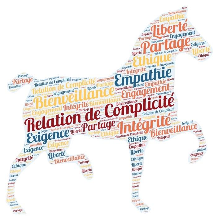 Les valeurs de la Relation de Complicité® : bienveillance, partage, intégrité, empathie, exigence, liberté, éthique, engagement
